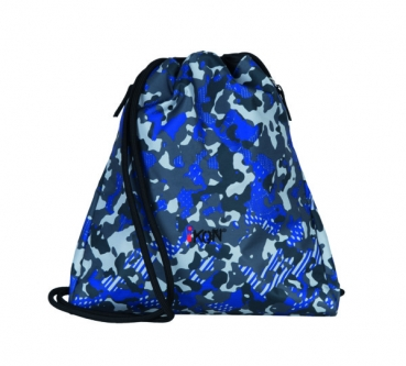 iKON Cinch Bag Blue Camouflage
