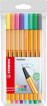 Stabilo® Fineliner Point 88® PASTEL 8Stk./Pack