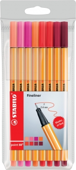 Stabilo® Fineliner Point 88® SHADES OF RED 8Stk./Pack