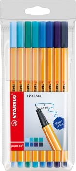 Stabilo® Fineliner Point 88® SHADES OF BLUE 8Stk./Pack
