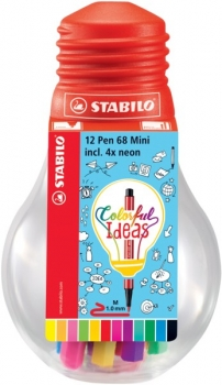 Stabilo® Pen 68 MINI Colorful Ideas Edition 12St./Pack