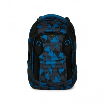 Satch Schulrucksack Match Blue Triangle