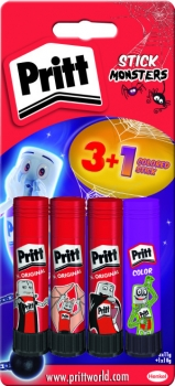 Pritt Klebestift 11g - Das Original 3 + 1 colored stick