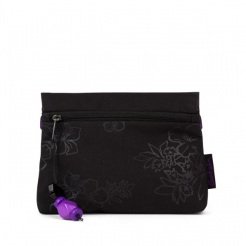 Satch Klatsch Clutch Purple Hibiskus