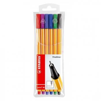 Stabilo® Fineliner Point 88® 6Stk./Pack