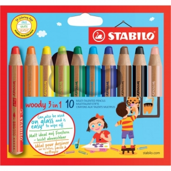 Stabilo® woody 3in1 10St./Pack